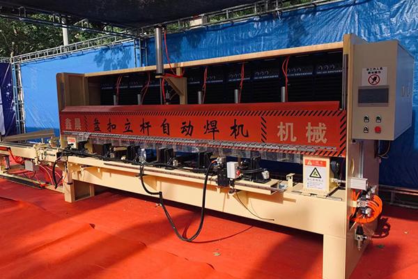 三米盘扣立杆自动穿管焊接机